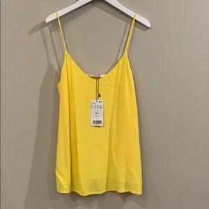 Mango Yellow Cami Top XXS NWT